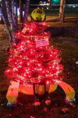 Lights are ablaze on the tree adopted by the Palmerton Fire Department,
