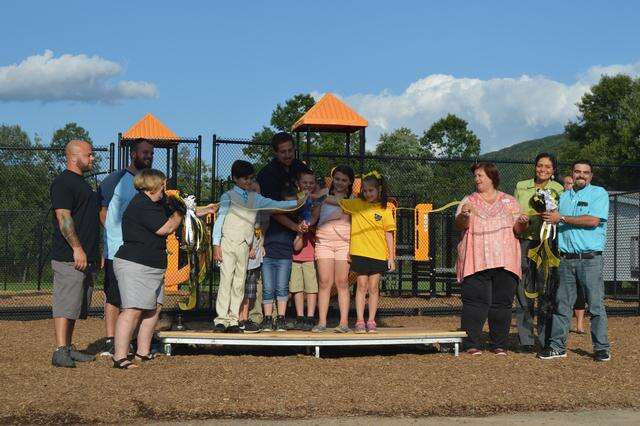 Panther Valley Elementary opens new recess area ahead of ...