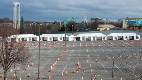Tents at Dorney ready for LVHN drive-through vaccinations – Times News Online