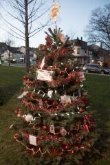 A tree in memory of Brett Flexer is decorated in Lehighton Park.